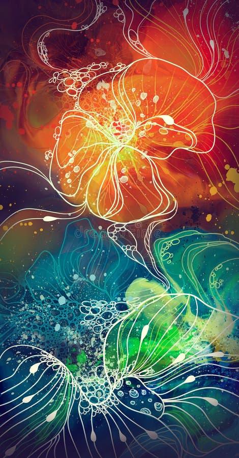 astrazione multicolore floreale illustrazione vettoriale