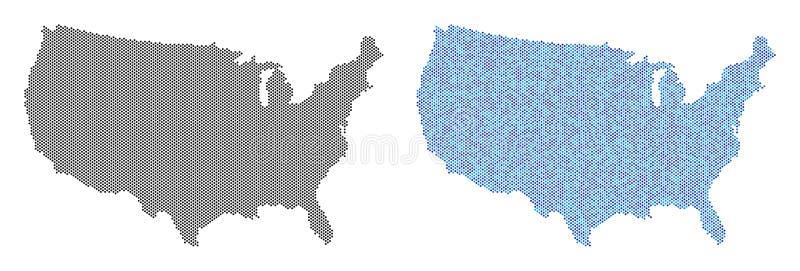 Astrazioni della mappa di U.S.A. del pixel royalty illustrazione gratis
