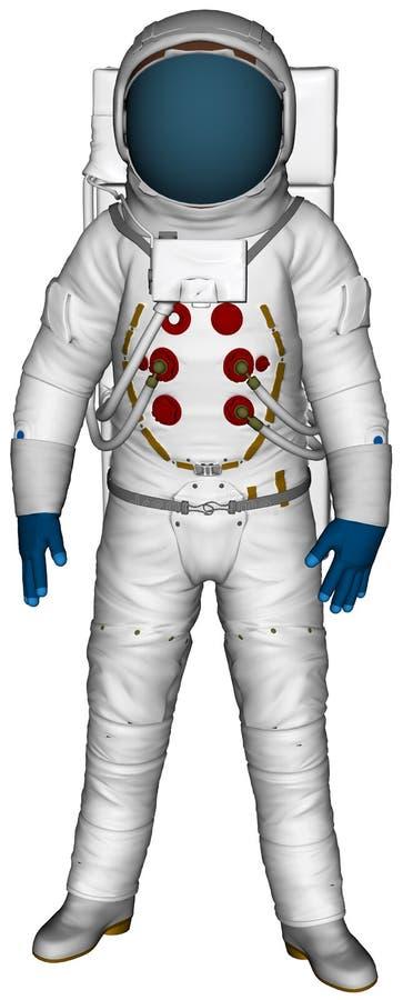 Astrnoaut Spacement Spacesuit ilustracja Odizolowywająca royalty ilustracja
