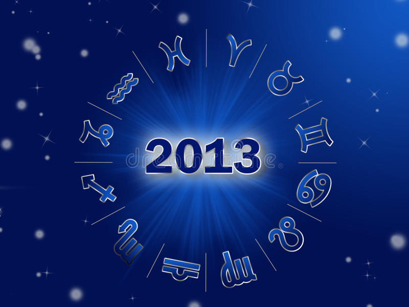 Astro 2013 , horoscope circle with zodiac signs vector illustration