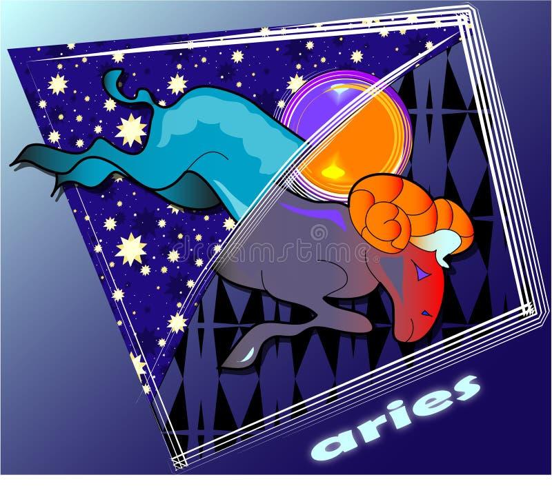 Astro aries stock illustratie