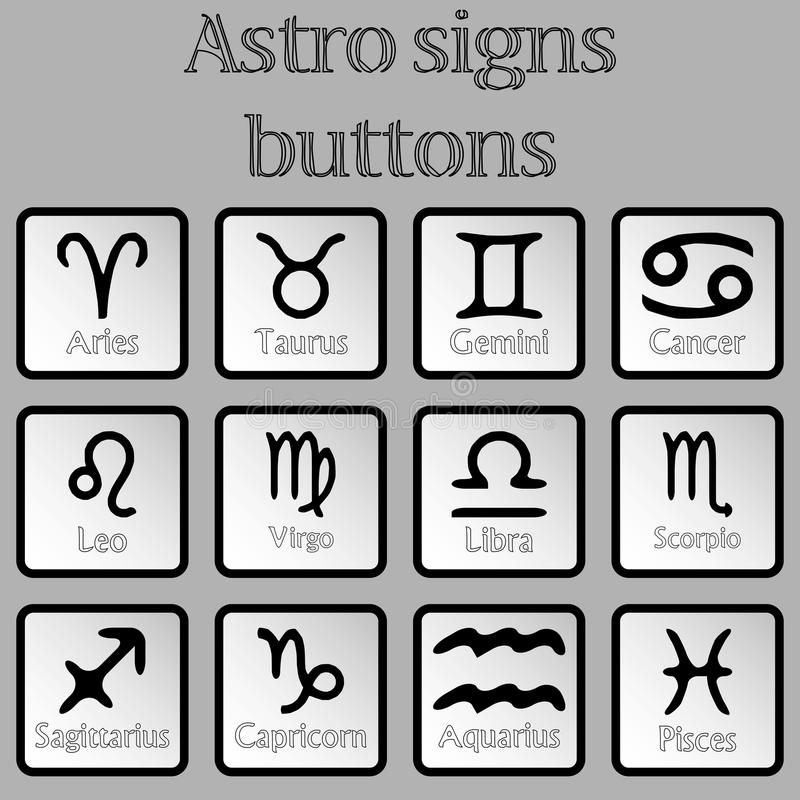 Astro kennzeichnet Tasten lizenzfreie abbildung
