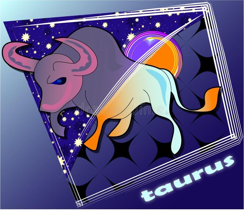 Astro taurus stock illustratie