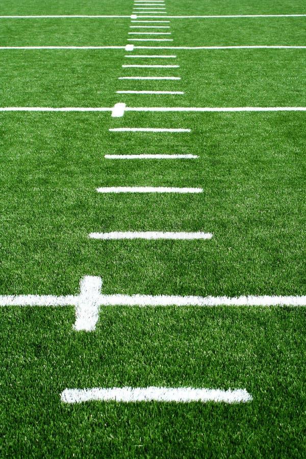 Astro turf football field royalty free stock photography