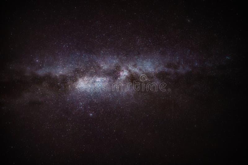 Astrofotografía nocturna Gigantes estelares de la Vía Láctea imagen de archivo