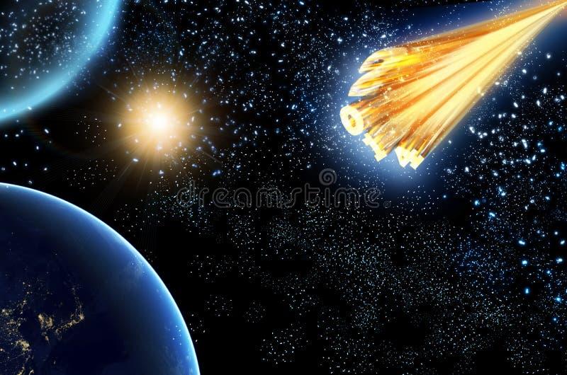 Astroid 2014 do cometa ilustração stock