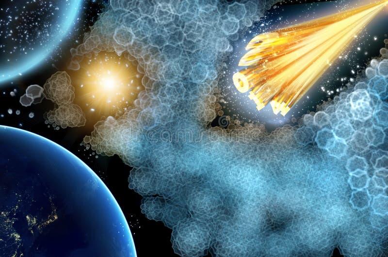 Astroid 2014 do cometa ilustração royalty free