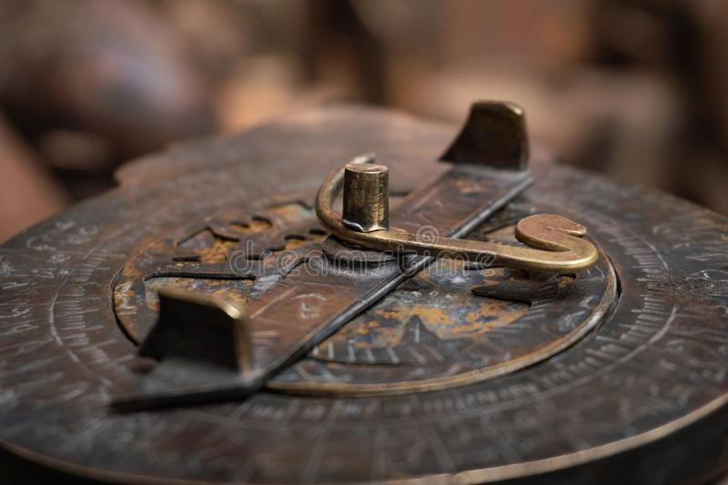Astrolabe - an ancient compass tool made by desert Berber people in Maghreb. Morocco stock image