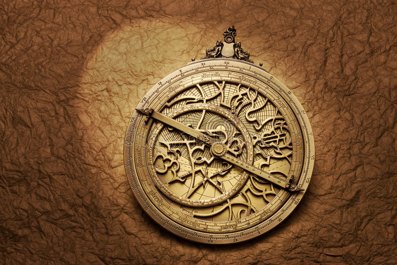 Astrolabe Astrology Horoscope stock photo