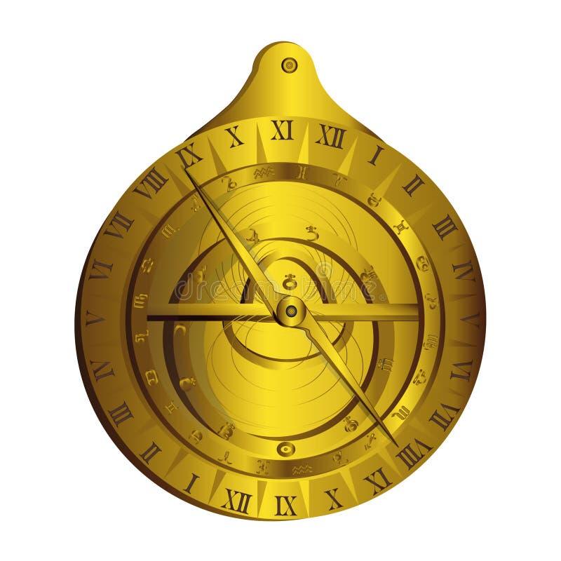 Astrolabe Messgerät stockfoto