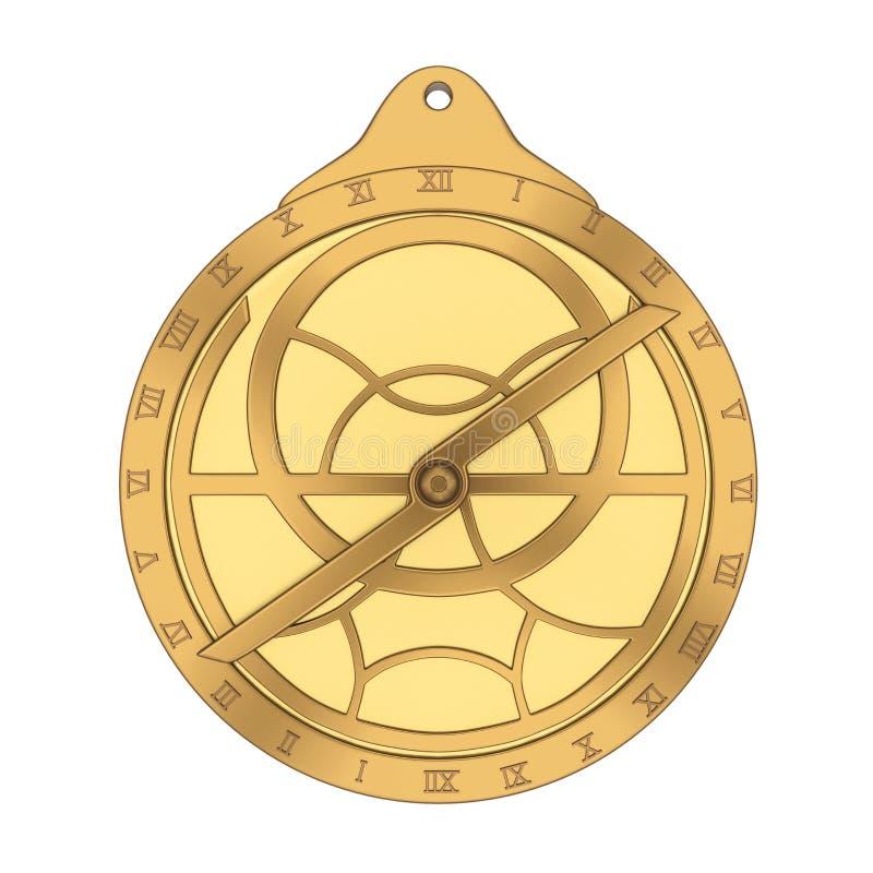 Astrolabio medieval aislado ilustración del vector