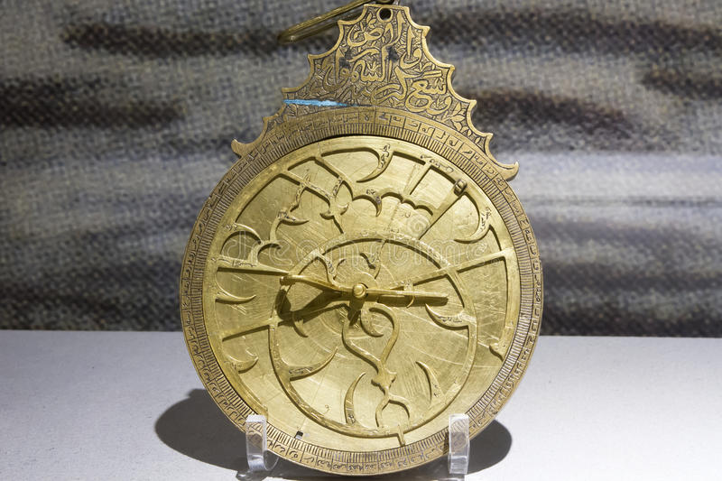 Astrolabiumstycke fotografering för bildbyråer
