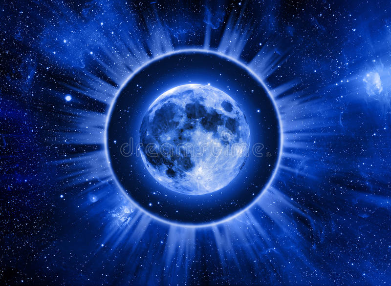 Astrología de la luna stock de ilustración