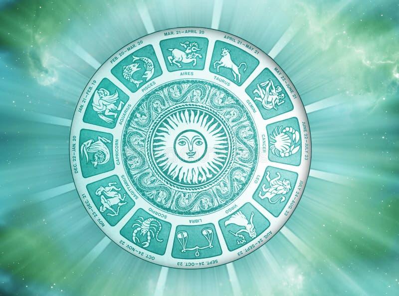 Astrología de Sun stock de ilustración