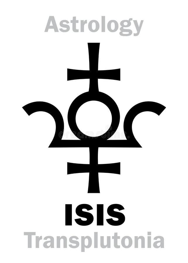 Astrología: ISIS del planeta ilustración del vector
