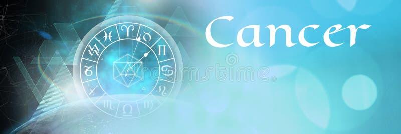 Astrología mística del zodiaco del cáncer stock de ilustración