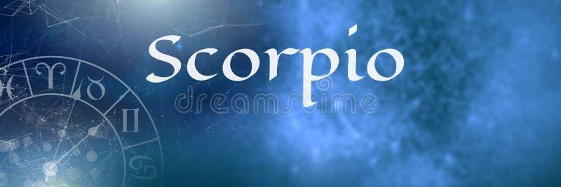 Astrología mística del zodiaco del escorpión stock de ilustración