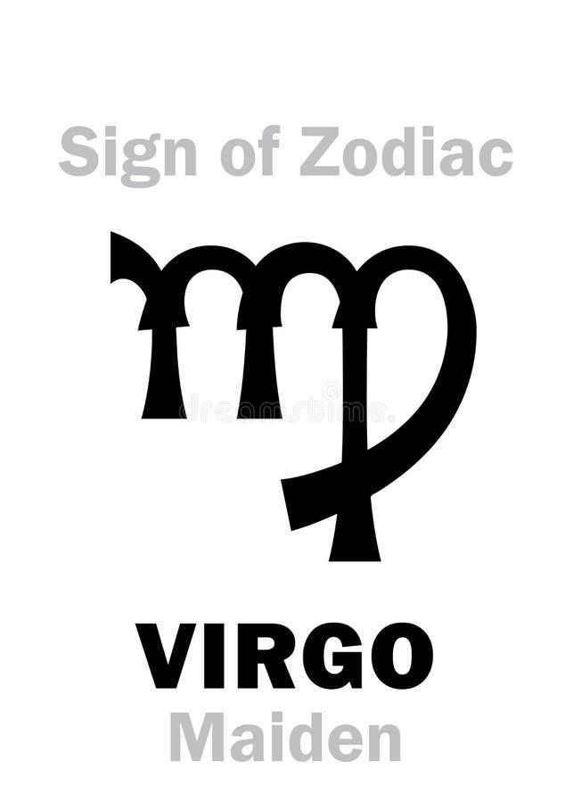 Astrología: Muestra del VIRGO del zodiaco stock de ilustración