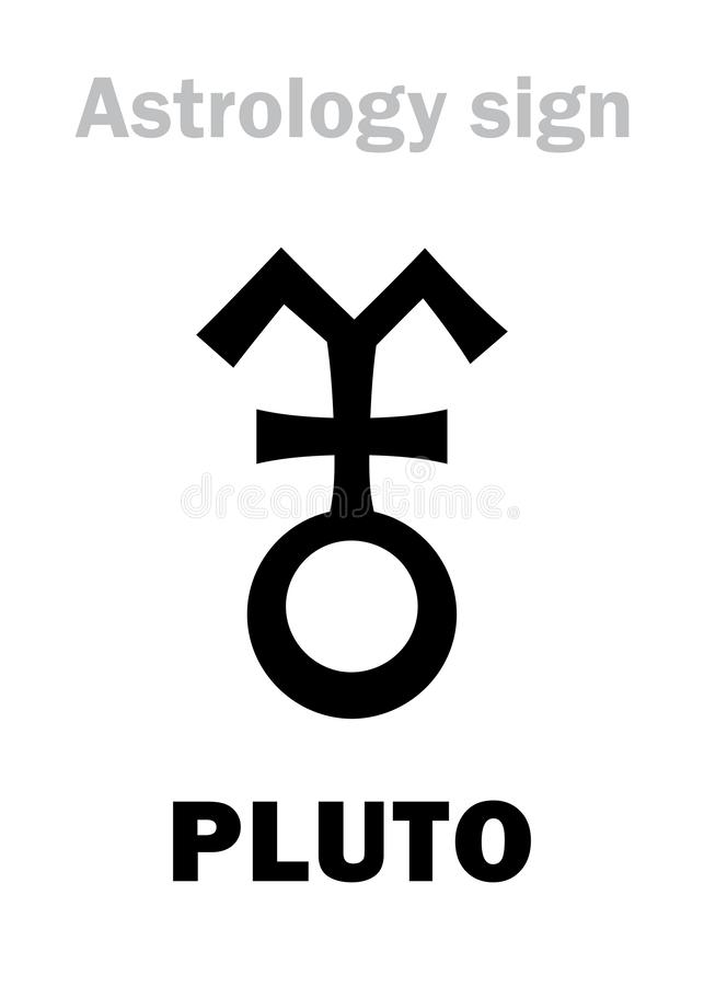Astrología: planeta PLUTÓN stock de ilustración