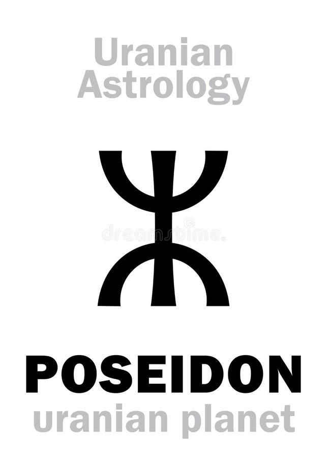 Astrología: Planeta uranian de POSEIDON stock de ilustración