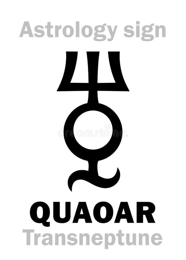 Astrología: planetoid QUAOAR stock de ilustración