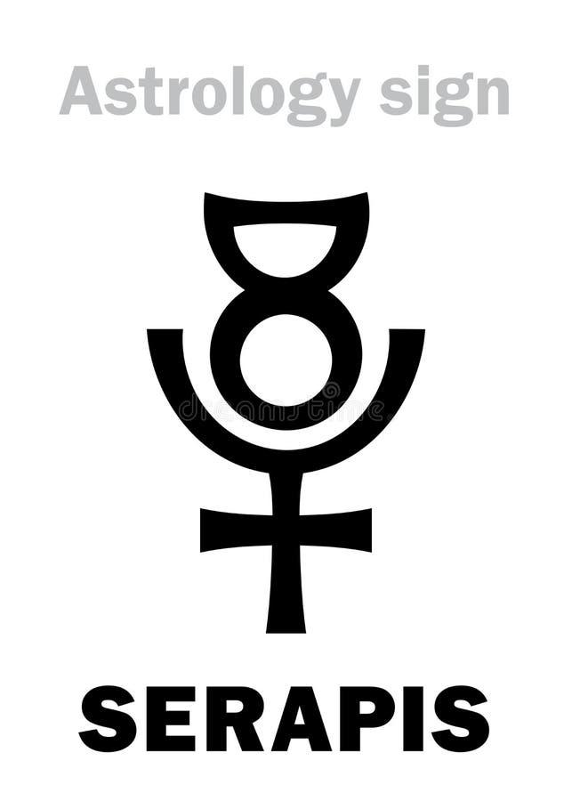 Astrología: SERAPIS ( God) Graeco-egipcio helenístico; stock de ilustración