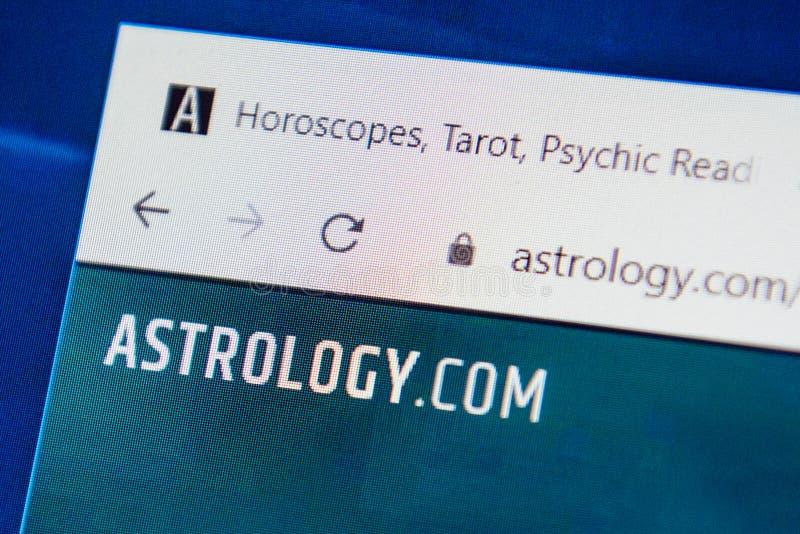 Astrología sitio web de com Enfoque selectivo foto de archivo