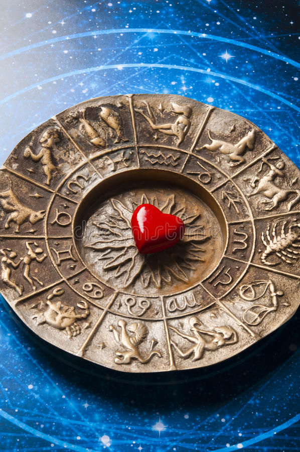 Astrología y amor imagen de archivo libre de regalías