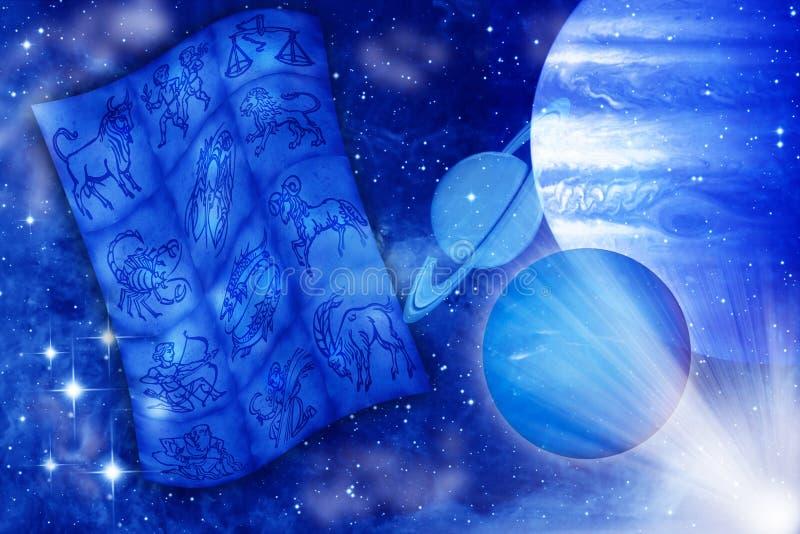 Astrología y planetas ilustración del vector