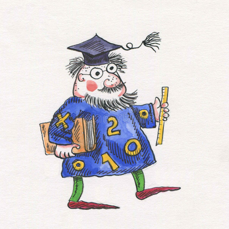 astrolog royalty ilustracja