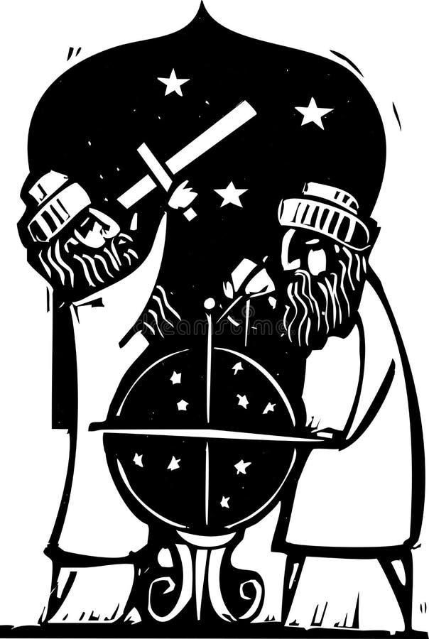 Astrologen vector illustratie