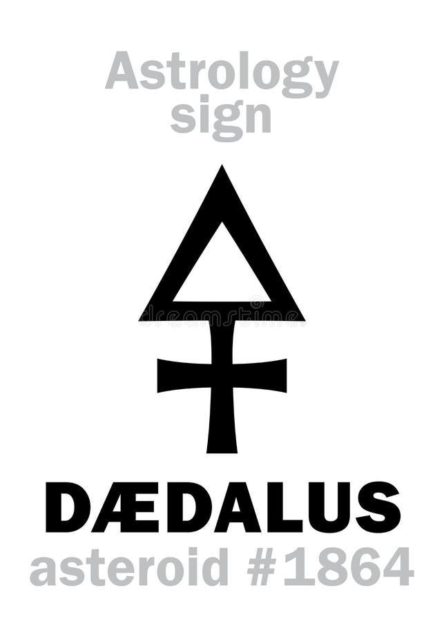 Astrologi: † DALUS för asteroid DÃ stock illustrationer
