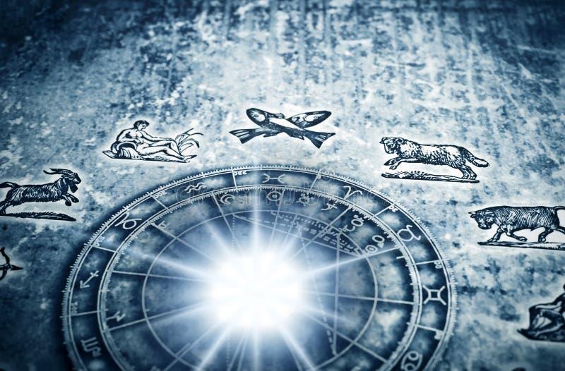 astrologi stock illustrationer