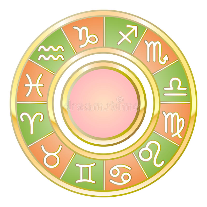 Astrologi stock illustrationer