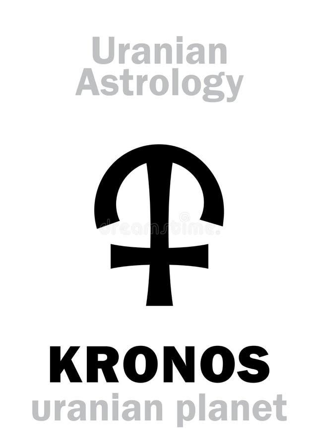 Astrologi: KRONOS ( uranian planet) vektor illustrationer