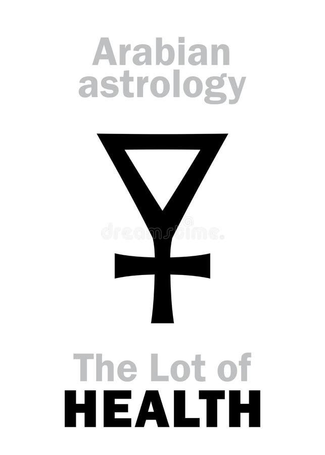 Astrologi: Lott av HÄLSA vektor illustrationer