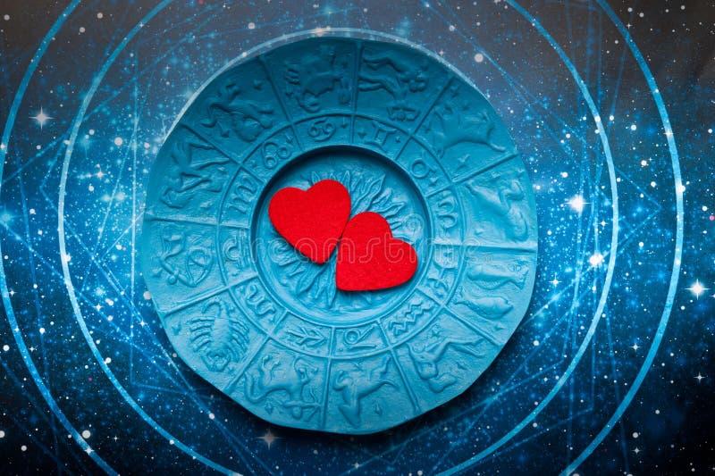Astrologi och förälskelse stock illustrationer
