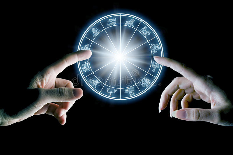 Astrologi och förälskelse royaltyfria bilder