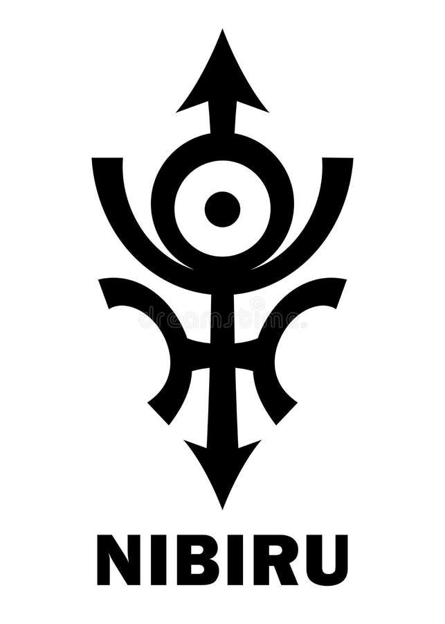 Astrologi: Skurk- planet NIBIRU royaltyfri illustrationer