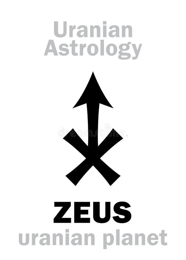 Astrologi: ZEUS ( uranian planet) stock illustrationer