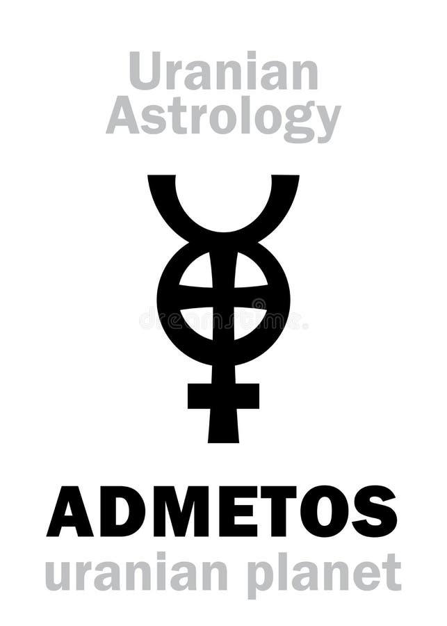 Astrologia: ADMETOS uranian planeta royalty ilustracja