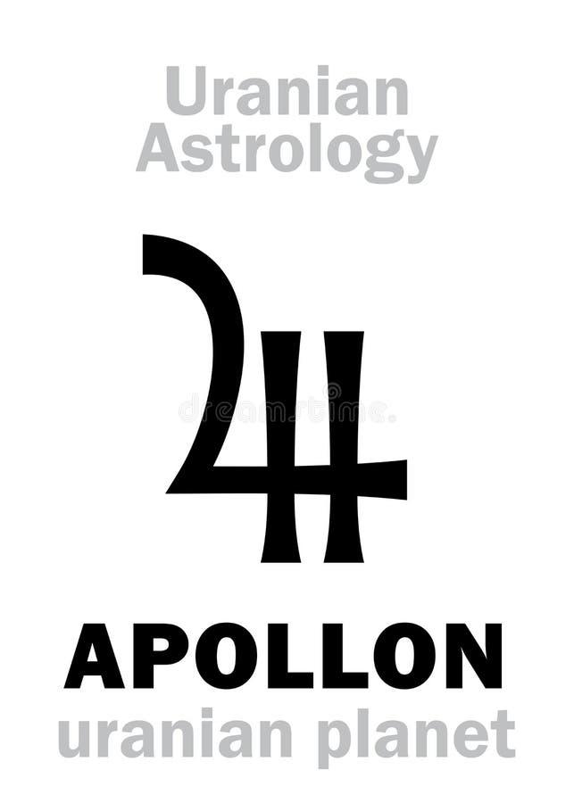 Astrologia: APOLLON uranian planeta ilustracja wektor