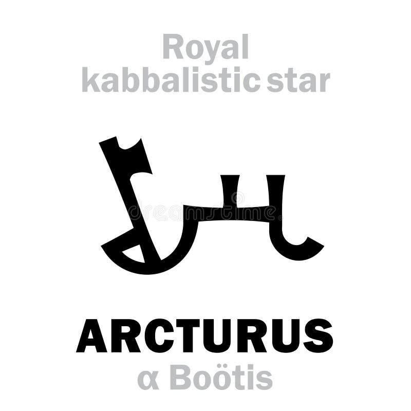 Astrologia: ARCTURUS a estrela kabbalistic real de Behenian ilustração royalty free