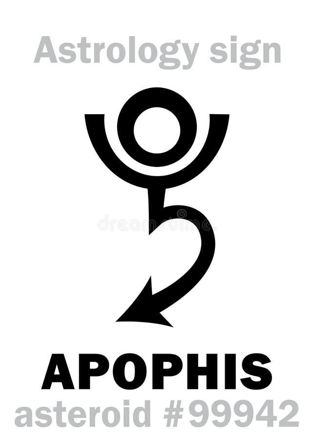 Astrologia: asteroida APOPHIS ilustracji