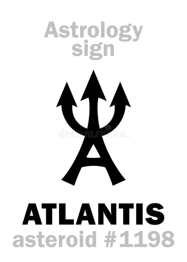 Astrologia: ATLANTIS asteroide ilustração stock