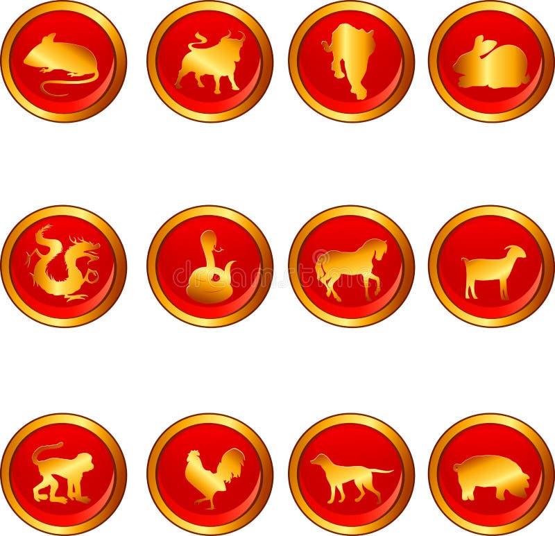 astrologia chińczyk ilustracja wektor