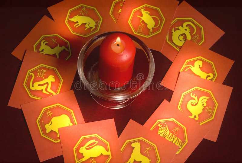 Astrologia cinese fotografia stock