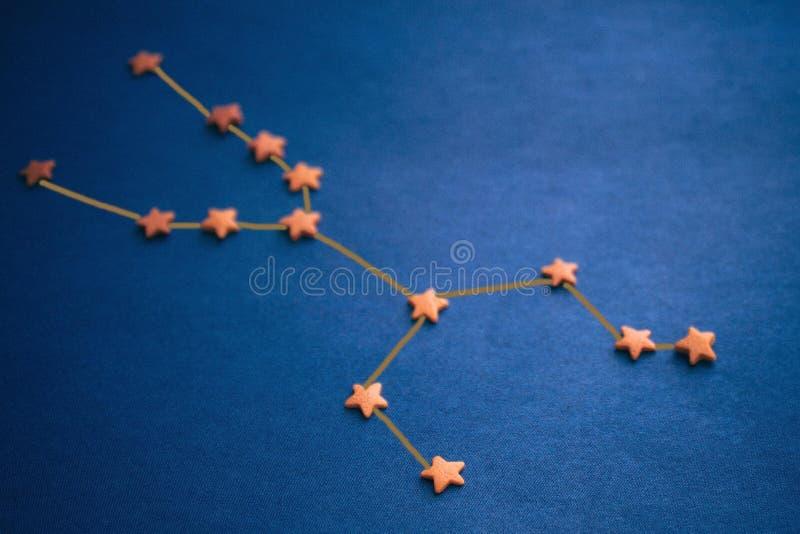 Astrologia, constelação do Touro imagem de stock