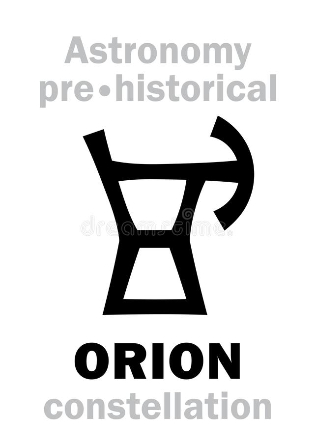 Astrologia: Costellazione neolitica preistorica di ORION Ancient royalty illustrazione gratis