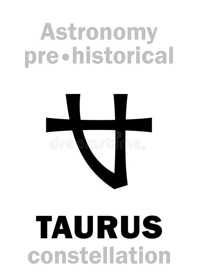 Astrologia: Costellazione neolitica preistorica di TAURUS Ancient royalty illustrazione gratis